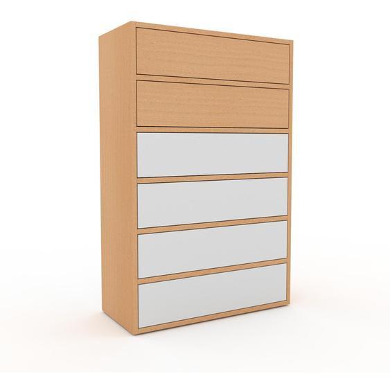 Commode - Hêtre, pièce de caractère, sophistiquée, avec tiroir Blanc - 77 x 118 x 35 cm, personnalisable