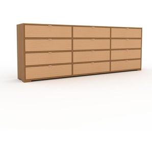 Commode - Chêne, pièce de caractère, sophistiquée, avec tiroir Hêtre - 226 x 81 x 35 cm, personnalisable