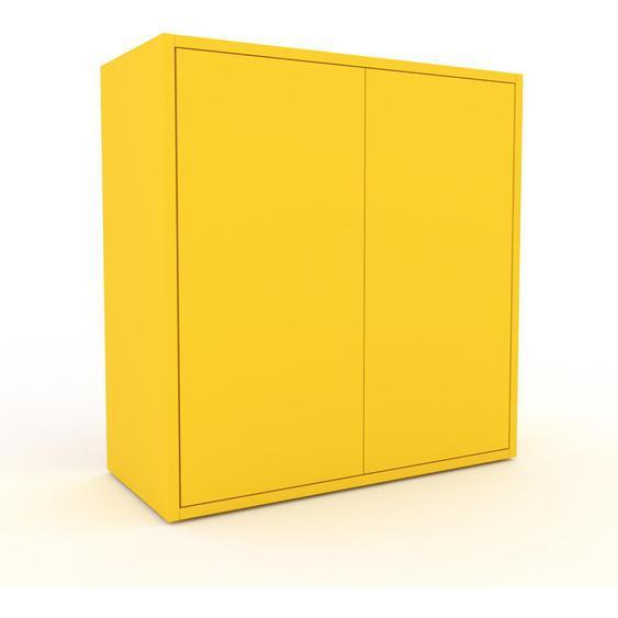 Commode - Jaune, contemporaine, élégantes, avec porte Jaune - 77 x 80 x 35 cm, personnalisable