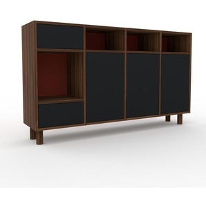 Commode - Noir, moderne, raffinée, avec porte Noir et tiroir Noir - 156 x 91 x 35 cm