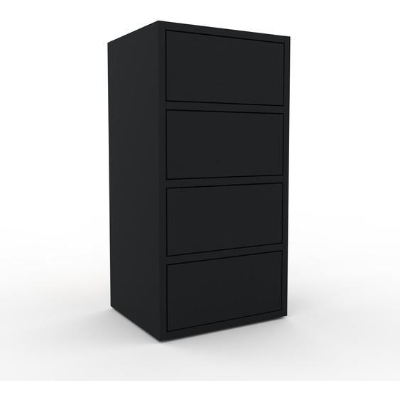 Commode - Noir, pièce de caractère, sophistiquée, avec tiroir Noir - 41 x 80 x 35 cm, personnalisable