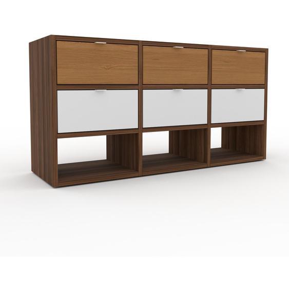 Commode - Noyer, pièce de caractère, sophistiquée, avec tiroir Blanc - 118 x 61 x 35 cm, personnalisable
