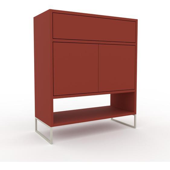 Commode - Terra cotta, moderne, raffinée, avec porte Terra cotta et tiroir Terra cotta - 77 x 91 x 35 cm