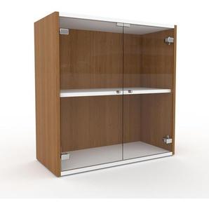 Commode - Verre clair transparent, contemporaine, élégantes, avec porte Verre clair transparent - 77 x 80 x 35 cm, personnalisable