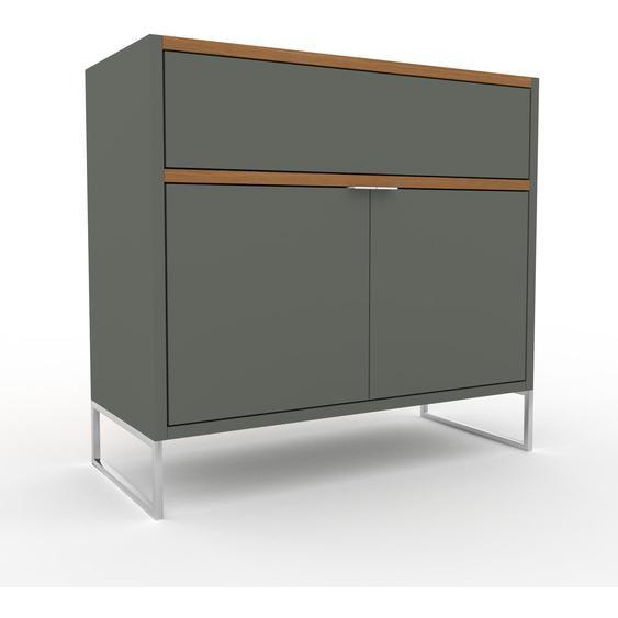 Commode - Taupe, moderne, raffinée, avec porte Taupe et tiroir Taupe - 77 x 72 x 35 cm