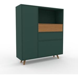 Commode - Vert sapin, moderne, raffinée, avec porte Vert sapin et tiroir Vert sapin - 116 x 130 x 35 cm