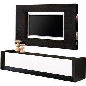 Composition design meuble TV chêne 2 tiroirs