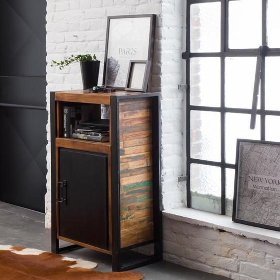 Confiturier industriel métal et bois coloré 1 porte