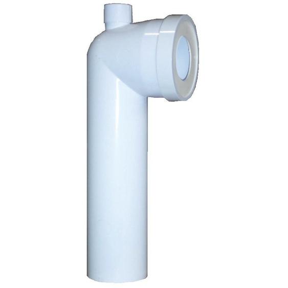Coude WC 90° Mâle D.100 avec piquage dessus - REGIPLAST - PLA