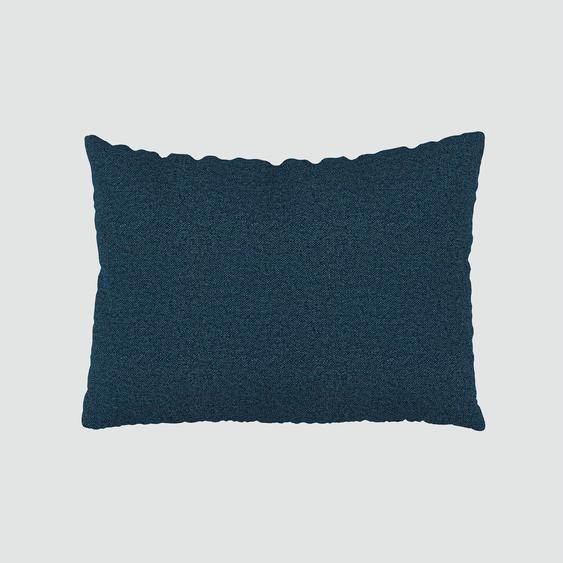 Coussin Bleu Océan - 48x65 cm - Housse en Tissu Fin. Coussin de canapé moelleux