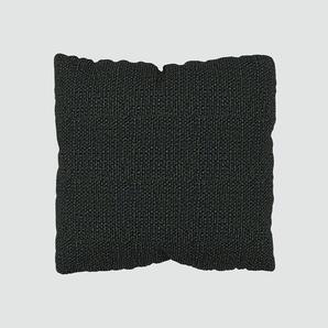 Coussin Noir Nuit - 40x40 cm - Housse en Tissu grossier. Coussin de canapé moelleux