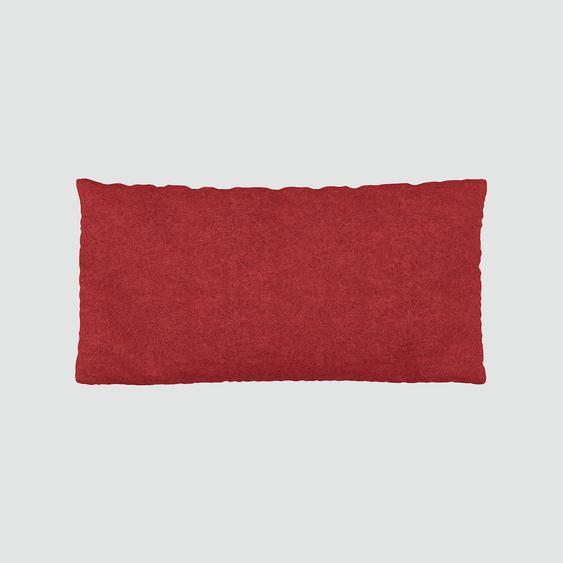 Coussin Rouge Cerise - 40x80 cm - Housse en Laine. Coussin de canapé moelleux