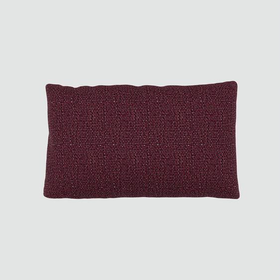 Coussin Rouge Mûre - 30x50 cm - Housse en Tissu grossier. Coussin de canapé moelleux