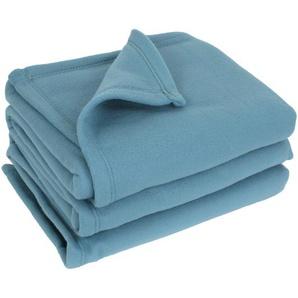 Couverture polaire 220x240 cm 100% Polyester 350 g/m2 TEDDY bleu Lac
