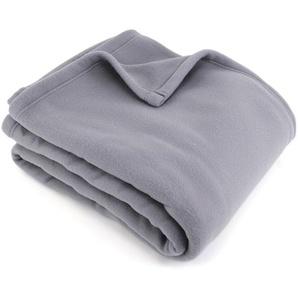 Couverture polaire 240x260 cm 100% Polyester 350 g/m2 TEDDY Gris Acier