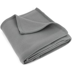 Couverture polaire 240x260 cm Isba gris Acier 100% Polyester 320 g/m2 traité non-feu