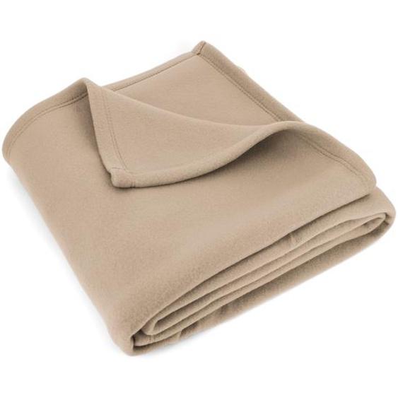 Couverture polaire 240x260 cm Isba Sable 100% Polyester 320 g/m2 traité non-feu