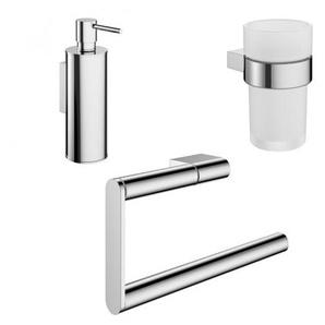 Crosswater MPRO Sets daccessoires lavabo 3 pièces chrome SW24595-SW24599-SW24593