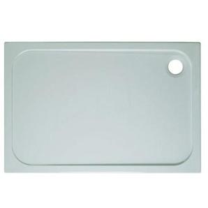 Simpsons Shower Tray Receveur de douche 80x110x4.5cm rectangulaire stone résin blanc SR0R81100