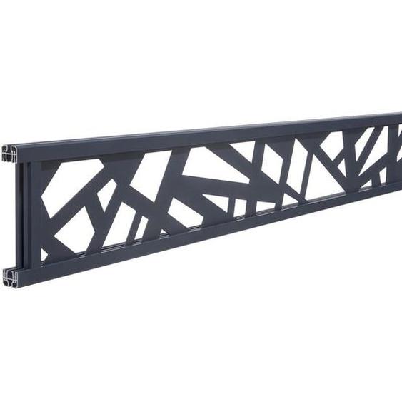 Décor NEW YORK cadre gris anthracite 7016 pour clôture composite