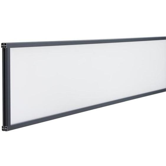 Décor verre dépoli cadre gris anthracite pour clôture composite