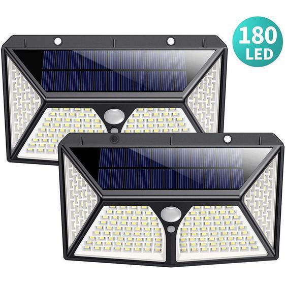 Détecteur de Movement Spot Solaire led éclairage Extérieur étanche sans fil Applique Lumière Solaire pour Jardin Garage - TECHBOX