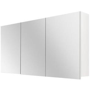 Differnz Armoire de toilette 120x60x15cm 3 portes avec miroir MDF blanc 36.701.16