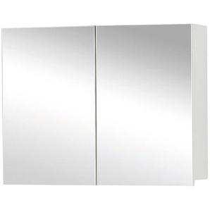Differnz Armoire de toilette 60x60x15cm 2 portes avec miroir MDF blanc 36.701.02