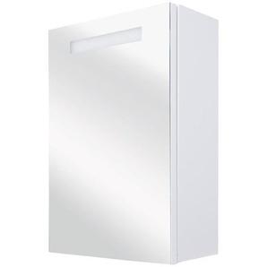 Differnz Sotto Armoire de toilette 56x70x15cm avec éclairage LED et prise blanc 36.008.11