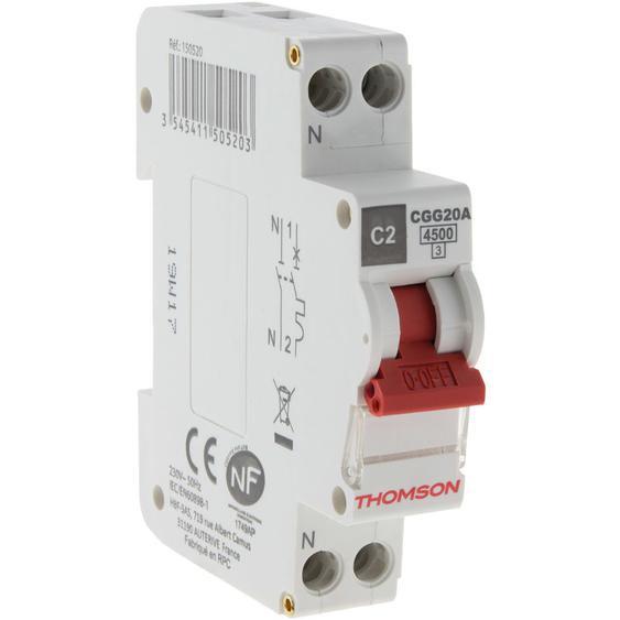 Disjoncteur à vis PH+N - 2A NF - Pouvoir de coupure 4.5KA - Thomson