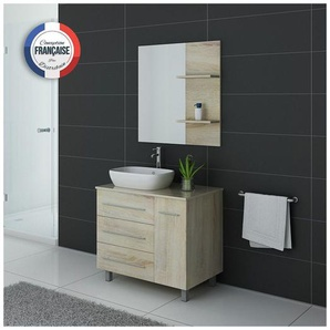 Meuble de salle de bain simple vasque TOSCANE Scandinave - DISTRIBAIN