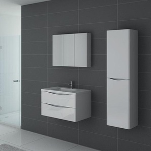 Meuble de salle de bain simple vasque TREVISE 800 Blanc - DISTRIBAIN