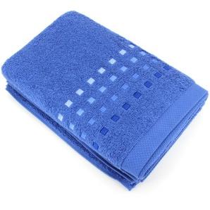 Drap de bain 100x150 cm 100% coton 550 g/m2 PURE PRIMAVERA bleu Marine