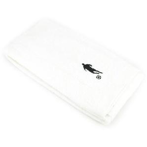 Drap de douche 70x140 cm 100% coton 550 g/m2 PURE FOOTBALL Blanc