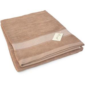Drap de douche 70x140 cm FICUS Marron 500 g/m2 pur coton bio