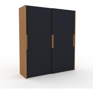 Dressing - Anthracite, design, armoire penderie pour chambre ou entrée, haut de gamme, avec portes coulissantes - 204 x 233 x 65 cm, modulable