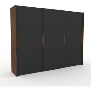 Dressing - Anthracite, design, armoire penderie pour chambre ou entrée, haut de gamme, avec portes coulissantes - 304 x 233 x 65 cm, modulable