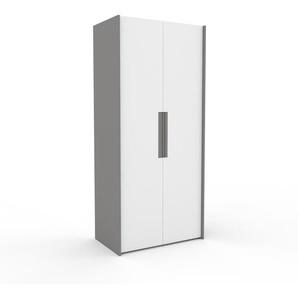 Dressing - blanc, design, armoire penderie pour chambre ou entrée, à portes battantes - 104 x 233 x 62 cm, modulable