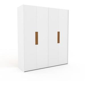 Dressing - blanc, design, armoire penderie pour chambre ou entrée, à portes battantes - 204 x 233 x 62 cm, modulable