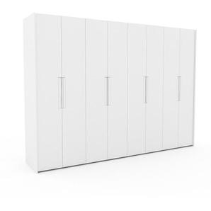 Dressing - blanc, design, armoire penderie pour chambre ou entrée, à portes battantes - 324 x 233 x 62 cm, modulable