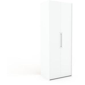 Dressing - blanc, design, armoire penderie pour chambre ou entrée, à portes battantes - 84 x 233 x 62 cm, modulable