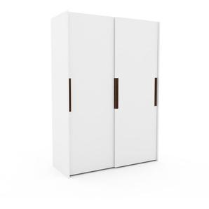 Dressing - Blanc, design, armoire penderie pour chambre ou entrée, haut de gamme, avec portes coulissantes - 164 x 233 x 65 cm, modulable