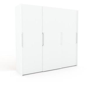 Dressing - Blanc, design, armoire penderie pour chambre ou entrée, haut de gamme, avec portes coulissantes - 244 x 233 x 65 cm, modulable