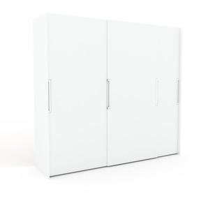 Dressing - Blanc, design, armoire penderie pour chambre ou entrée, haut de gamme, avec portes coulissantes - 254 x 233 x 65 cm, modulable
