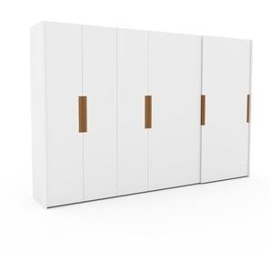 Dressing - blanc, design, armoire penderie pour chambre ou entrée, haut de gamme, avec portes coulissantes - 354 x 233 x 65 cm, modulable
