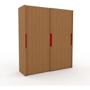 Dressing - Chêne, design, armoire penderie pour chambre ou entrée, haut de gamme, avec portes coulissantes - 204 x 233 x 65 cm, modulable