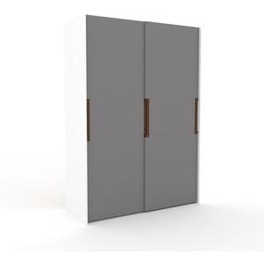 Dressing - Gris, design, armoire penderie pour chambre ou entrée, haut de gamme, avec portes coulissantes - 164 x 233 x 65 cm, modulable