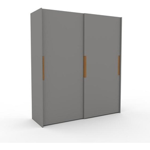 Dressing - Gris, design, armoire penderie pour chambre ou entrée, haut de gamme, avec portes coulissantes - 204 x 233 x 65 cm, modulable