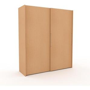 Dressing - Hêtre, design, armoire penderie pour chambre ou entrée, haut de gamme, avec portes coulissantes - 204 x 233 x 65 cm, modulable