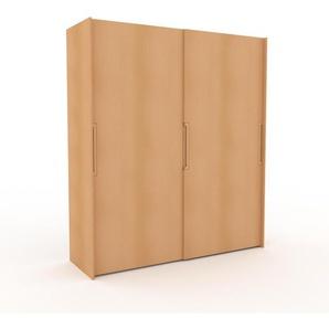Dressing en hêtre, bois massif, moderne, armoire penderie pour chambre ou entrée, avec portes coulissantes - 204 x 233 x 65 cm, modulable